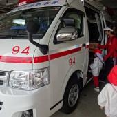 救急車に乗りました。