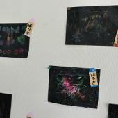 クレヨンで素敵な絵を描きました