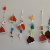 ゆり・つぼみ~ドングリの折り紙