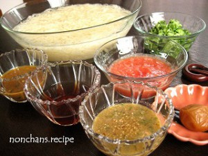 2015のんちゃんず素麺のおつゆ3種類