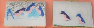 ペンギンの折り紙(年中)