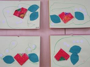 イチゴの折り紙