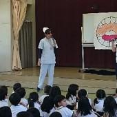 田中ナース登場!虫歯菌をやっつける歯磨きの大切さを教えてくれました。