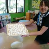 子どもたちの手作り団子。