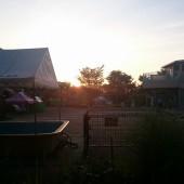 太陽も上がり始めました。今日も良い天気になりそうです。
