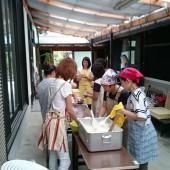 波豆川の美人軍団の婦人会の皆さま、おいしいおにぎりを作ってくださり、ありがとうございました。