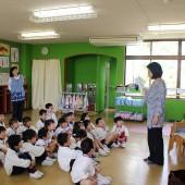 英語あそびは和子先生、レッスン中は英語オンリーです。