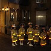 消防士さんになって消火しました