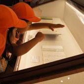与謝野晶子の作品が展示されていました。たくさんの作品に興味津々!