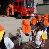 走っているパトカー、大きな消防車や救急車を見ることができました。