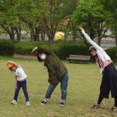年長組は親子で体操をしました。