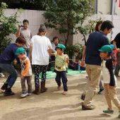 競技の最後はお家の人とフォークダンスをして楽しいひと時を過ごしました。