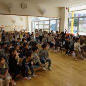 開花幼稚園クイズをしました。大盛り上がりでした。