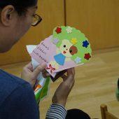 お誕生日には手作りのカードのプレゼントがあります