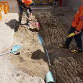 みんなで力を合わせて「水道管作り」をしました。