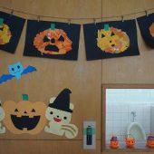 お部屋の飾りも作って楽しみにしていたハロウィン