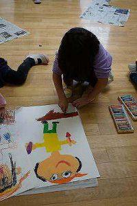 クレパスでしっかりと色も塗りました。