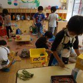おもちゃコーナー・・・お友だちと一緒におもちゃでたくさん遊びました。