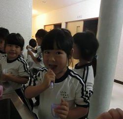 歯を磨いて…