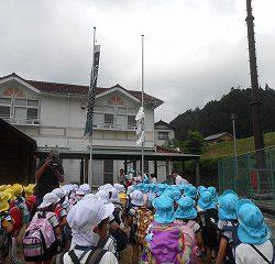 兵庫県養父市にあるほたるの館に到着!旗揚げ式をしました!