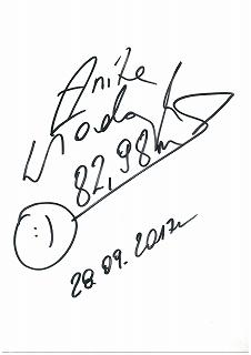 アニタ選手にサインを頂きました!