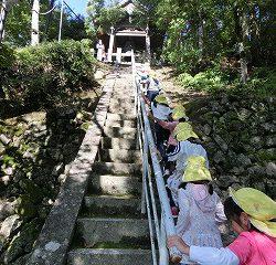 次は神峯山寺内を朝の散策です。