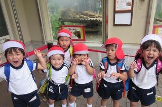 ライオンのまねっこ! ガオー!年少組の子どもたちはとても楽しい一日でした♪