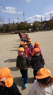パワーのある子どもたち!帰りは幼稚園まで歩いて帰りました!