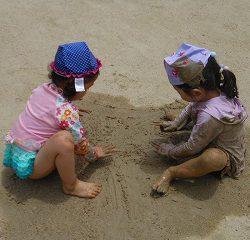砂場以外でも(^^♪