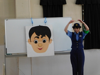 顔の特徴をクイズにして子どもたちに質問すると、よーく覚えていました!