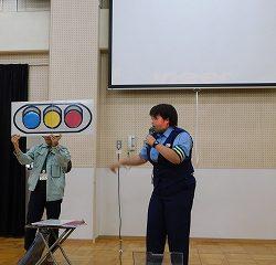 交通安全についてのお話をおまわりさんが教えてくれました