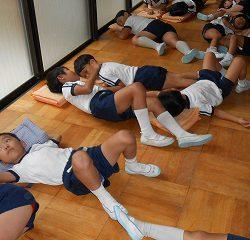 幼稚園で休憩~