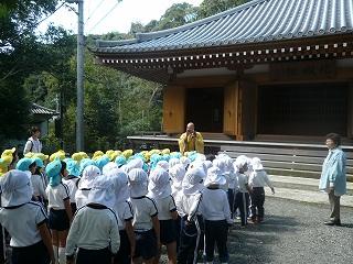 副住職さんのお話を聴いて神峯山寺を失礼しました