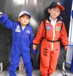 宇宙飛行士になりきり♪