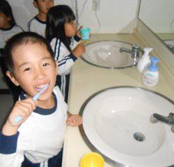 しっかり歯を磨いていました!