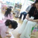 「ママの髪何色かな~(*^。^*)」