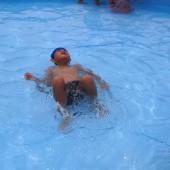 背泳の練習