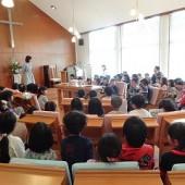 交野教会で礼拝