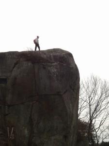 ここに登りました(横から見たところ)