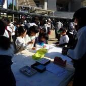 卒園児の子供達の寄せ書きコーナー