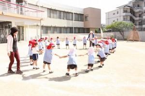 年少組の子どもたちにとっては初めての運動会