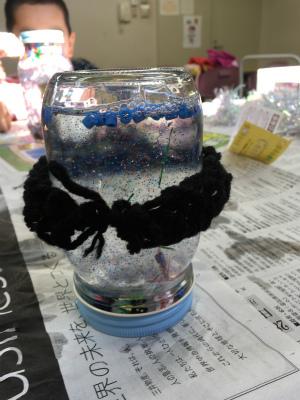 指編みで作った編み物も飾りにしました